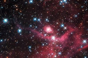 Hubble Captures Dazzling Sight Of Cosmic Microwave Laser